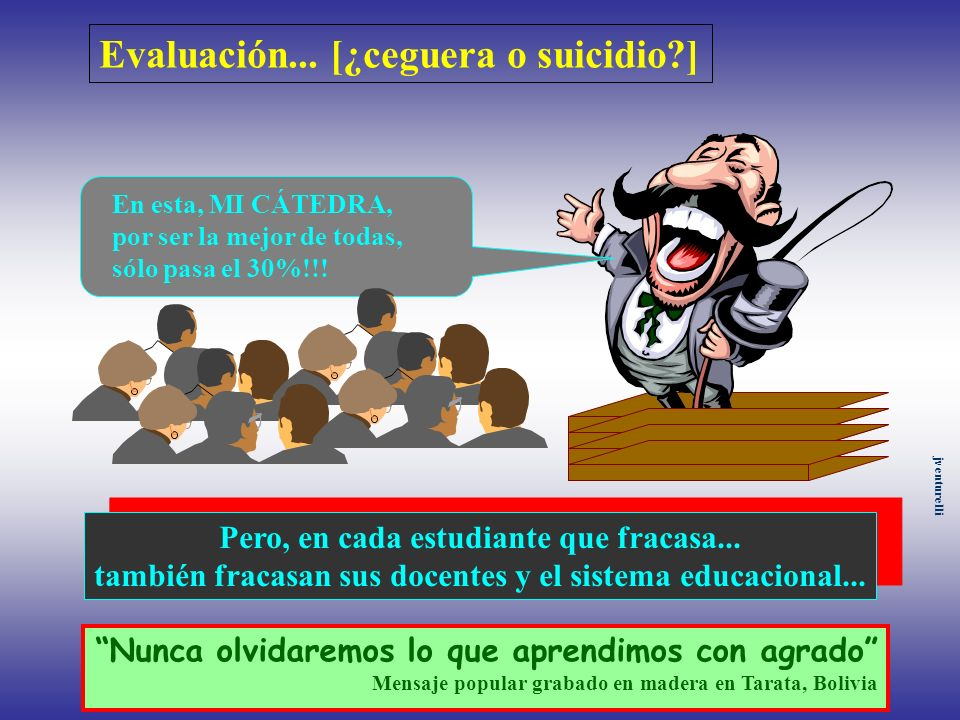 Evaluación... [¿ceguera o suicidio ]